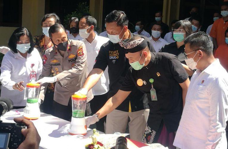Polda Bali Musnahkan Narkotika Hasil Pengungkapan dari 71 Tersangka