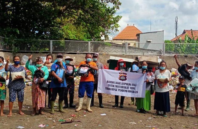 PPKM Diperpanjang, Polda Bali Gelontorkan Puluhan Ton Beras untuk Masyarakat
