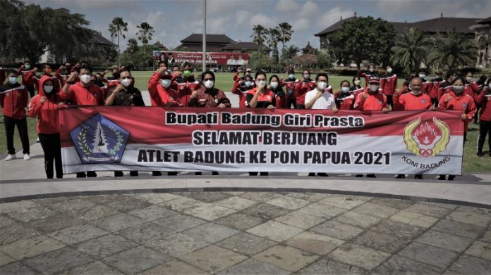 Bupati Giri Prasta Lepas Atlet Badung ke Laga PON XX/2021 Papua