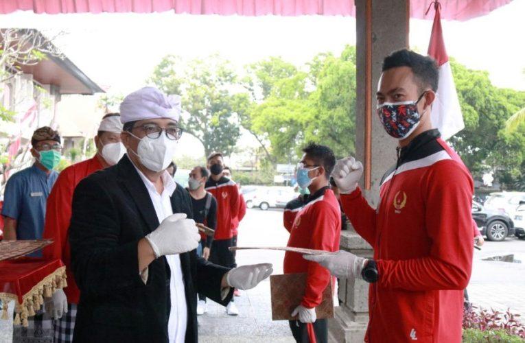 Bupati Sanjaya Lepas 12 Atlet Tabanan yang Berlaga di PON XX/2021 Papua