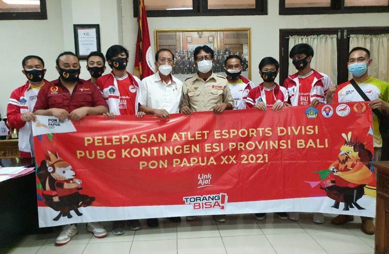 Atlet PUBG Esports Bali Resmi Dilepas Asisten I Bali Menuju PON XX Papua 2021