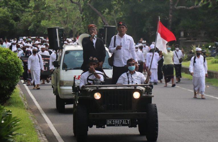 Tolak HK, Aliansi Hindu Nusantara Gelar Demo di Depan Kantor Gubernur Bali