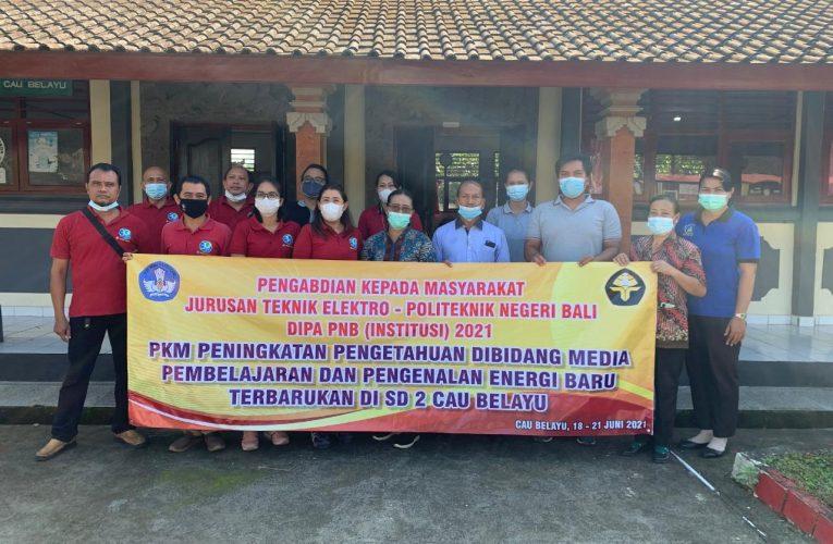 Politeknik Negeri Bali Perkenalkan Energi Terbarukan pada SD 2 Cau Belayu