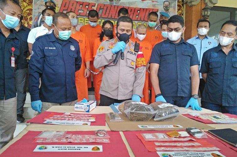 Polresta Denpasar Ungkap 36 Kasus Narkotika dan Amankan 51 Tersangka
